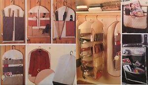 McCalls 8260 Sew Pattern Organizer Car Closet Couch Gift Wrap Garment Bag Shoe A