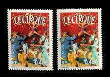 VARIETE 3466 YT** ELEPHANT BLEU GRIS ET UN SECOND BLEU TURQUOISE - EXTRA-