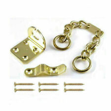 HIGH SECURITY DOOR CHAIN BRASS Narrow Safety Slide Restrictor Lock Catch Guard