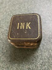 Antique Leather Covered Ink Well