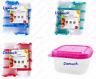 New 8 Pack Small MINI SQUARE FOOD CONTAINERS Plastic Storage Boxes Snack Lunch ✔