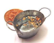 1:12 SCALA piccolo ovale in metallo ciotola vasca di acqua piovana Casa Delle Bambole Giardino Fata bagno
