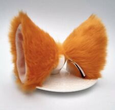 Cat Fox Long Ears Neko Costume Hair Clip Halloween Cosplay