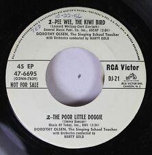 Pop Promo 45 Dorothy Olsen - Pee Wee, The Kiwi Bird,  The Poor Little  Doggie /