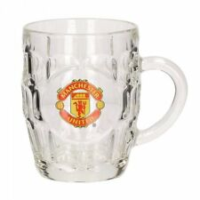 UFFICIALE Manchester United F.C. GLASS TANKARD PINTA BIRRA TAZZA 500 ML Calcio Regalo
