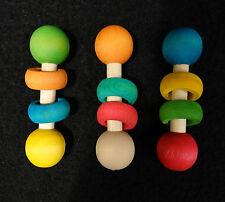 3 Pk Ring of Fun w/ Hardwood Rings Foot Toys Small to Medium Bird Parrot Toy