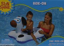 Sun Shine Puppy Dog Ride On Float 38 x 21 x 21 Ages 3 + NIB