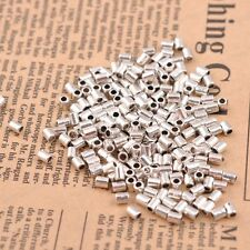 100Pcs Tibetan Silver Tube Charm Spacer Beads Jewelry Findings 4X3MM JK3044