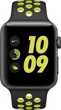 Apple Watch Nike Gray Aluminum Case - Black/Volt Band - 42mm (MPOA2LL/A)