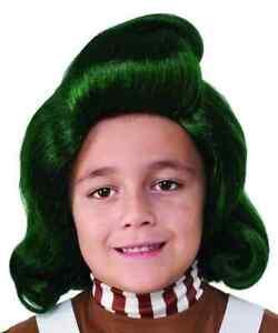 Oompa Loompa Wig Willy Wonka Chocolate Factory Halloween Child Costume Accessory
