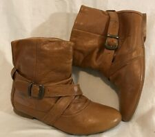 Red Herring Brown Ankle Leather Lovely Boots Size 3 (585vv)