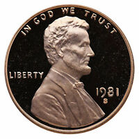 1981-S Lincoln Memorial Cent Penny Gem Proof US Mint Coin Uncirculated UNC