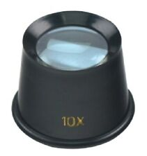10X Jewelers Loupe Eye Magnifying Glass Magnifier Coins Hobby Watchmakers 25mm
