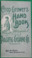 Original 1898 Pacific Guano Co. Crop Grower's Hand Book