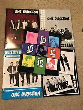 (4) RARE 1D One Direction School Folders & Binder / Niall Horan Harry Styles