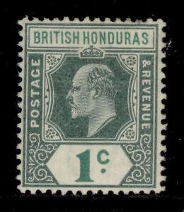 BRITISH HONDURAS EDVII SG95, 1c blue-green, LH MINT. Cat £24.