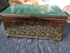 Antique Vintage Jewelry Casket Pamart Madmen Lucite (mia)