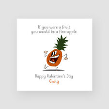 Personalised Handmade Funny Valentine's Day Card - Boyfriend, Girlfriend, Fruit