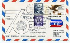 1975 Flight from McMurdo to South Pole StationPolar Antarctic Cover SIGNED
