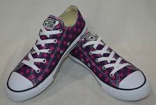 Converse Girl's Chuck Taylor OX Purple Star Repeat 3 Sneakers-1/2/3 NWB 358516F