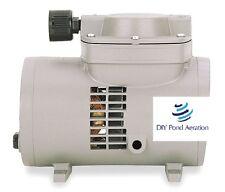 NEW OEM THOMAS 927CA18 Compressor/Vacuum Pump,1/8 HP,60 Hz,115V 2yr Warranty!