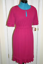 Phoebe Couture PINK Casual Heavy KNIT DRESS with Ruffles Sz 4 New $245