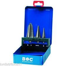 Coffret 3 forets coniques HSS-G Taillé-Meulé BOHRCRAFT Métal-Box  - B 3 -