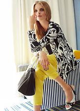 Femme uk 12 elegance paris super skinny jaune citron jeans rrp £ 89.00 (b nouveau)