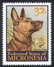 Micronesia 1996 Police Dog Reza/Dogs/Working Animals/Nature/Law/Order 1v (s926)