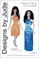 """Happy Chance Doll Clothes Sewing Dress Pattern for 22"""" American Model Tonner"""