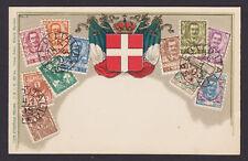 Zieher #9 unused PPC. Italy Stamps w/ Cancel, Embossed
