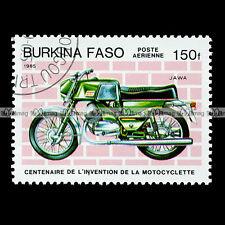 ★ JAWA 250 BIZON 1970 ★ (BURKINA FASO) Timbre Poste Moto / Motorcycle Stamp #3