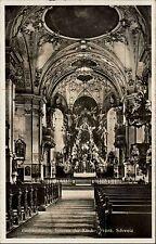 Gößweinstein fränkische Schweiz s/w Postkarte ~1940 gelaufen Inneres der Kirche