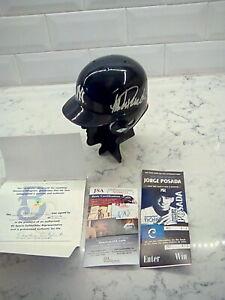 JORGE POSADA Autographed Signed RARE Yankees Helmet! JSA COA! PRISTINE Condition