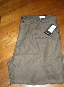 NWT AKADEMIKS OLIVE SLIM FIT Twill Casual Pants SZ: 50 x 32