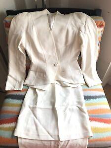 Thierry Mugler Skirt Suit sz 38