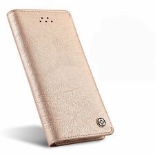 Genuine Leather Flip Wallet Case Card Holder Cover for Samsung Galaxy Note 8 S8 for iPhone 7 Plus Rose Gold