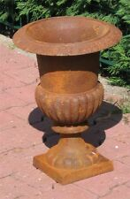 grosse schwere GussEisen Amphore - ROST Look - 42cm-Kratervase-Louvre Vase