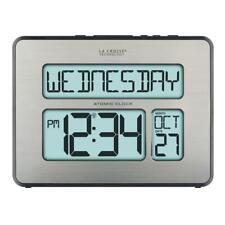 Atomic Full Calendar Extra Large Digits Backlight Digital Alarm Table Wall Clock