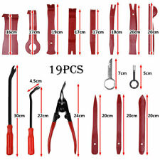 19x Car Radio Audio Stereo Door Trim Dash Panel Install Removal Pry Tool Kit Red