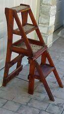 Antique 19c American Art&Craft Style Mahogany Pseudo-Through-Tenon Library Chair