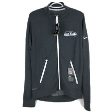 Nike Mens Seattle Seahawks Jacket Small Lightweight Gray NFL Vapor Sideline