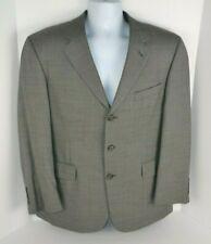 Stafford Men's 3-Button Blazer, 100% Wool Gray 40 Short