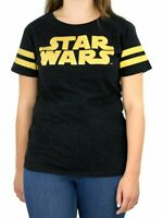 Brand New in Packaging Ladies/Womens Star Wars T-Shirt Size L (16/18) Black/Gold