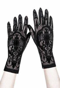 Restyle Clothing - Bat - Gothic Mesh Gloves