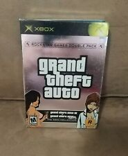 Grand Theft Auto Double Pack (Xbox, 2003) Gta Iii & Vice City, Cib & Tested!