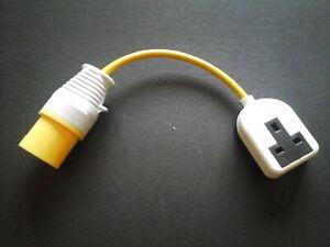 pat test adapter 240v socket to 16amp 110v plug,for pat testing;* SPARKYDEAL*;