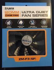 Zalman Ultra Quiet Fan shark fin blade fluid shield bearing ZM-F3 plus 120mm