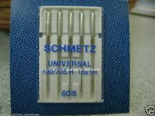 Schmetz Domestic Sewing Machine Needles, Universal point, Size 60, Pack of 5