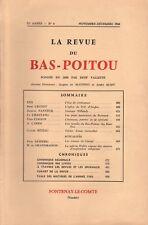 REVUE DU BAS-POITOU 71e ANNÉE - N° 6 NOV.-DÉC. 1960 [LES PUITS FUNÉRAIRES]